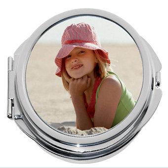 Apaļš spogulis ar apdruku