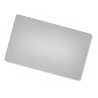 Sudraba metāla vizītkartes ar apdruku
