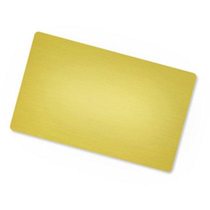 Zelta metāla vizītkartes ar apdruku